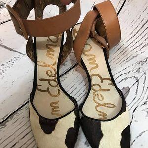 Sam Edelman cowhide heels- okala style
